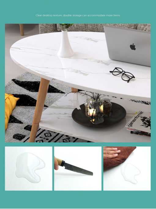 Dohányzó asztal – 120 cm – márvány minta