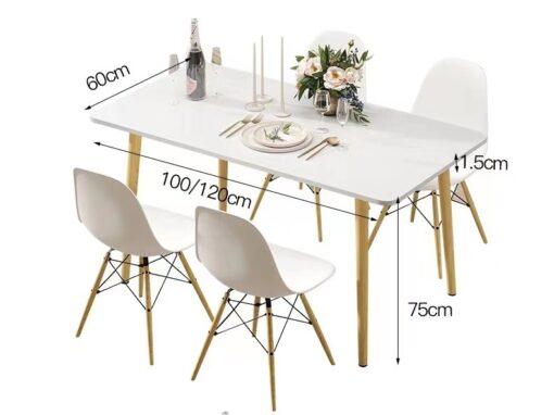 Téglalap alakú étkezőasztal – 120 cm