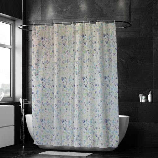Tengeri mintás zuhanyfüggöny