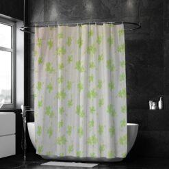 Zöld levél mintás zuhanyfüggöny