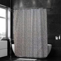 Fehér szívecskés zuhanyfüggöny