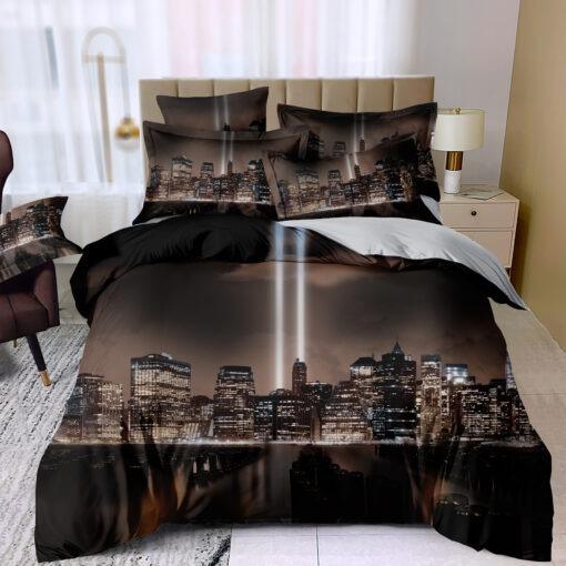 3D New York éjszaka ágyneműhuzat