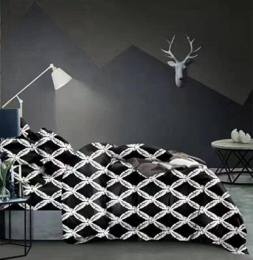 Fekete-fehér mintás ágyneműhuzat