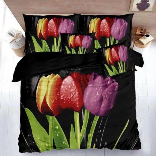 Színes tulipánok ágyneműhuzat