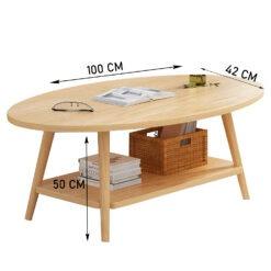 Dohányzó asztal – fa minta