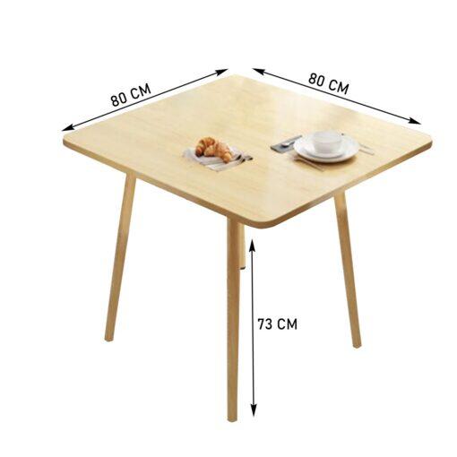 Négyzetes étkezőasztal – 80 cm