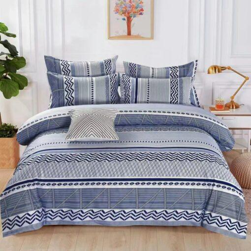 Kék - fehér mintás ágyneműhuzat