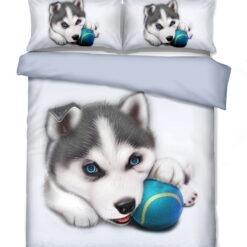 3d husky kiskutya ágyneműhuzat