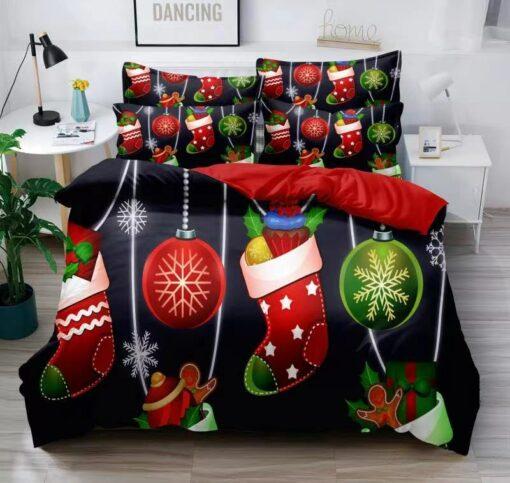Karácsonyi díszes ágynemű